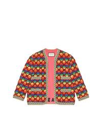 Cazadora de aviador bordada en multicolor de Gucci