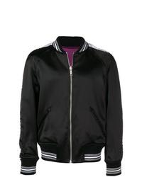 Cazadora de aviador bordada negra de Givenchy