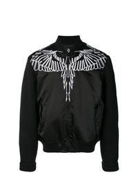 Cazadora de aviador bordada negra de Marcelo Burlon County of Milan
