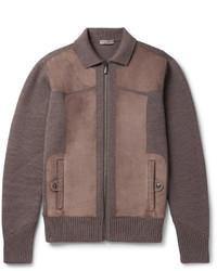 Cazadora de aviador de lana marrón de Bottega Veneta