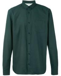 Cazadora de aviador de lana verde oscuro