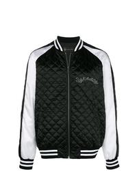 Cazadora de aviador en negro y blanco de Versace