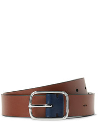 Ceinture en cuir brun Paul Smith