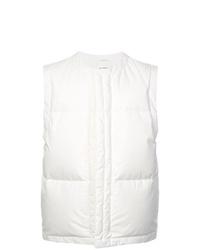 Chaleco de abrigo acolchado blanco de Jil Sander
