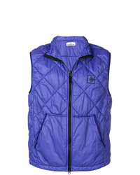 Chaleco de abrigo acolchado en violeta
