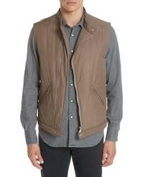 Chaleco de abrigo acolchado marrón claro