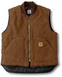 Chaleco de abrigo acolchado marrón