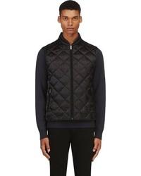 Chaleco de abrigo acolchado negro de Alexander McQueen