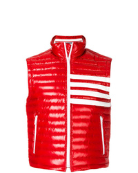 Chaleco de abrigo acolchado rojo de Thom Browne
