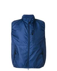 Chaleco de abrigo azul marino de Aspesi