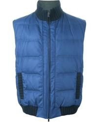 Chaleco de abrigo azul de Kiton