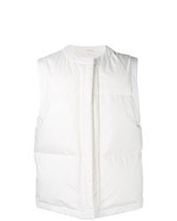 Chaleco de abrigo blanco de Jil Sander