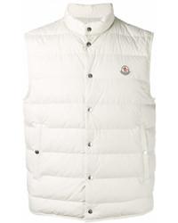 Chaleco de abrigo blanco de Moncler