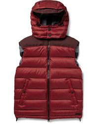Chaleco de abrigo burdeos de Burberry