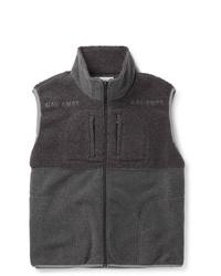 Chaleco de abrigo de forro polar en gris oscuro