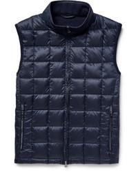 Chaleco de abrigo de lana acolchado azul marino
