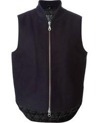 Chaleco de abrigo de lana azul marino