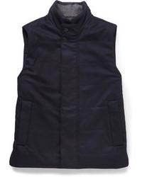 Chaleco de abrigo de lana azul marino de Façonnable