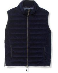 Chaleco de abrigo de lana azul marino de Incotex