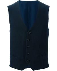 Chaleco de abrigo de lana azul marino de Tonello