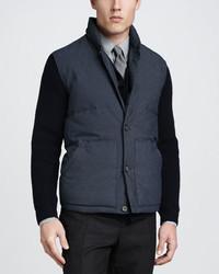 Chaleco de abrigo de lana azul marino de Vince