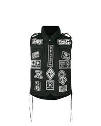 Chaleco de abrigo estampado negro de Ktz