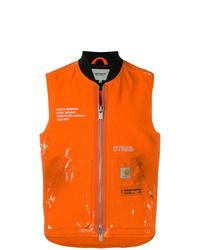 Chaleco de abrigo naranja de Heron Preston