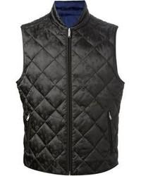 Chaleco de abrigo negro de Alexander McQueen