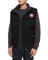 Chaleco de abrigo negro de Canada Goose