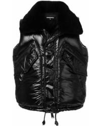 Chaleco de abrigo negro de DSQUARED2
