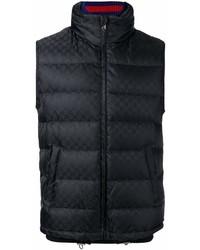 Chaleco de abrigo negro de Gucci