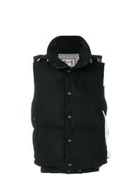 Chaleco de abrigo negro de Moncler Gamme Bleu