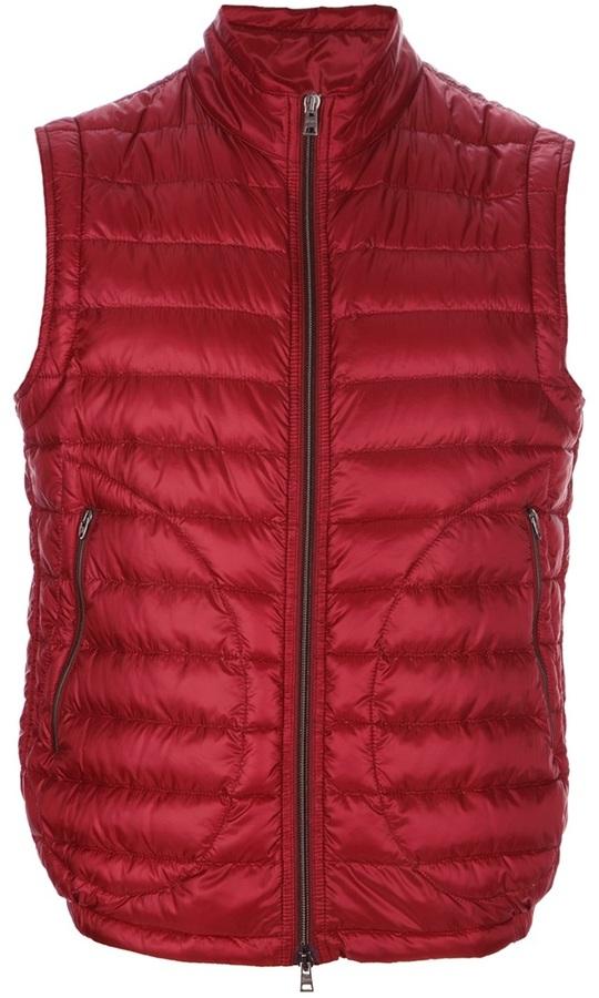 Chaleco de abrigo rojo de Herno