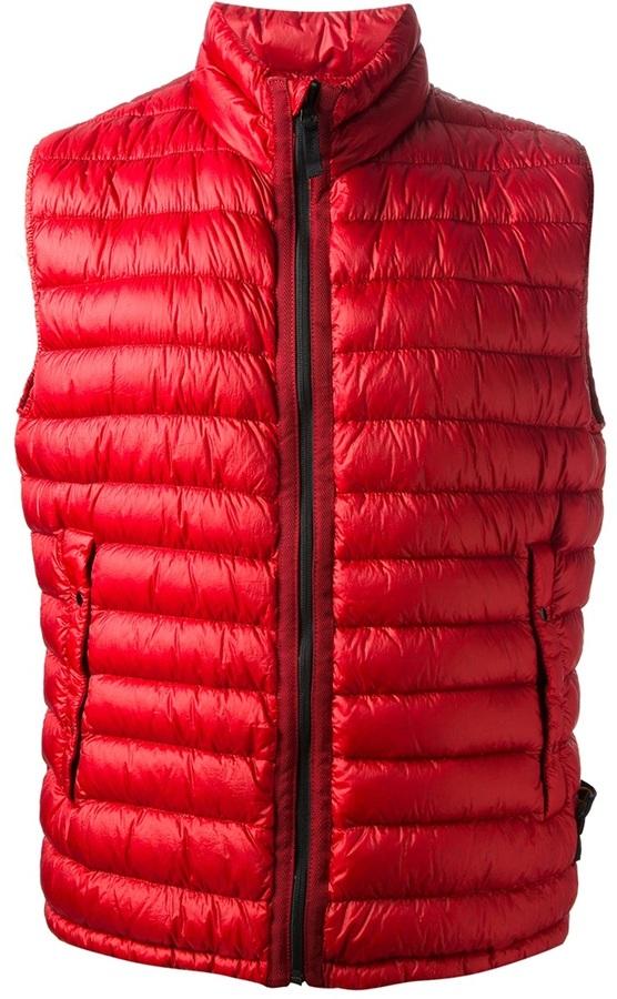 Chaleco de abrigo rojo de Stone Island