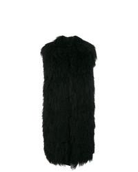 Chaleco de pelo negro de Moncler