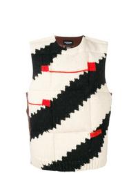 Chaleco de punto estampado en blanco y negro de Calvin Klein 205W39nyc