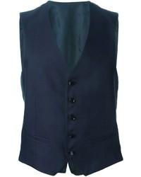 Chaleco de vestir azul marino de Tonello