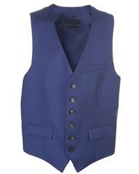 Chaleco de vestir azul de Alexander McQueen