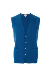 Chaleco de vestir azul de N.Peal