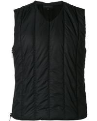 Chaleco de vestir de algodón acolchado negro de Ann Demeulemeester