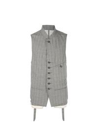 Chaleco de vestir de algodón gris de Ziggy Chen