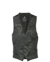 Chaleco de vestir de camuflaje en gris oscuro de Loveless