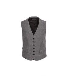Chaleco de vestir de espiguilla gris
