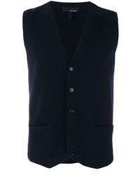 Chaleco de vestir de lana azul marino de Lardini