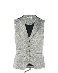 Chaleco de vestir de lana de espiguilla gris de Al Duca D'Aosta 1902