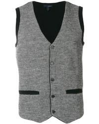 Chaleco de vestir de lana de punto gris de Lardini