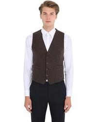 Chaleco de vestir de lana en marrón oscuro de Barena