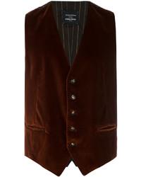 Chaleco de vestir de lana en marrón oscuro de Tagliatore
