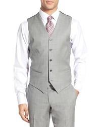 Chaleco de vestir de lana gris de Ted Baker