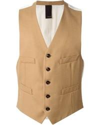 Chaleco de vestir de lana marrón claro